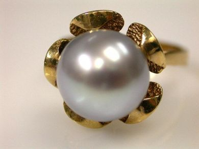 66891-February/Vintage Pearl Ring Cynthia Findlay Antiques CFA1201142