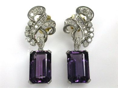 66984-April/Amethyst Earrings Cynthia Findlay Antiques CFA120437