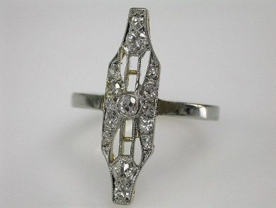 66984-April/Diamond Navette Ring Cynthia Findlay Antiques CFA1203139