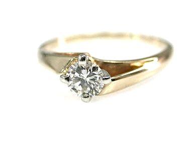 Vintage Diamond Solitaire Ring