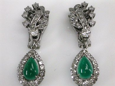 66984-April/Emerald Earrings Cynthia Findlay Antiques CFA120397