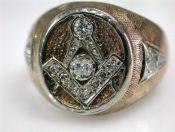 Masonic Diamond Ring