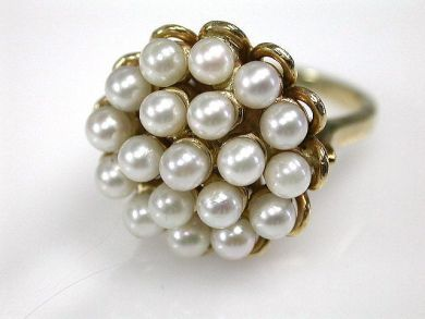 66984-April/Pearl Cluster Cynthia Findlay Antiques CFA1203193