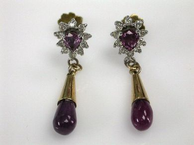 66984-April/Ruby Earrings Cynthia Findlay Antiques CFA120394