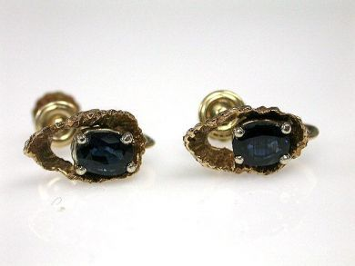 66984-April/Sapphire Earrings Cynthia Findlay Antiques CFA120453
