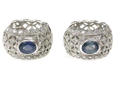 Sapphire Lace Earrings