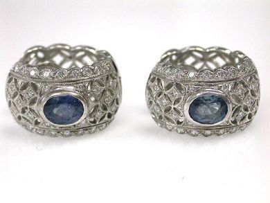 66984-April/Sapphire Lace Earrings Cynthia Findlay Antiques CFA120454