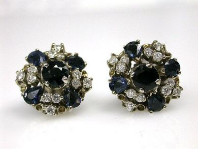 66984-April/Sapphire and Diamond Earrings Cynthia Findlay Antiques CFA120455