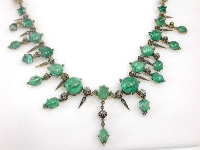 Victorian Emerald and Diamond Necklace