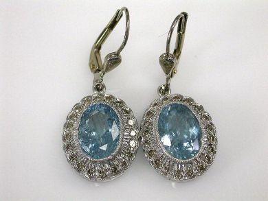 67061-March/Aquamarine Drop Earrings Cynthia Findlay Antiques CFA120338 1