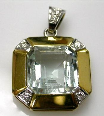 67061-March/Aquamarine Pendant Cynthia Findlay Antiques CFA1202324