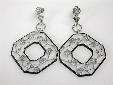 67061-March/Cherry Blossom Earrings Cynthia Findlay Antiques CFA120336