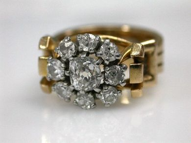 67061-March/Diamond Cluster Ring Cynthia Findlay Antiques CFA1202148