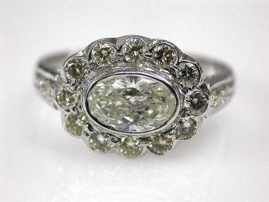 Vintage Inspired Diamond Cluster Ring