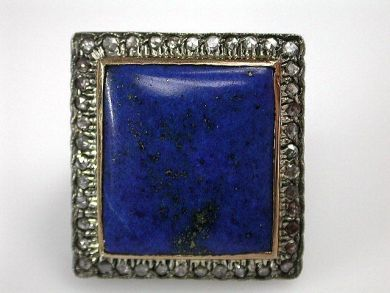 67061-March/Lapis and Diamond Ring Cynthia Findlay Antiques CFA1202303