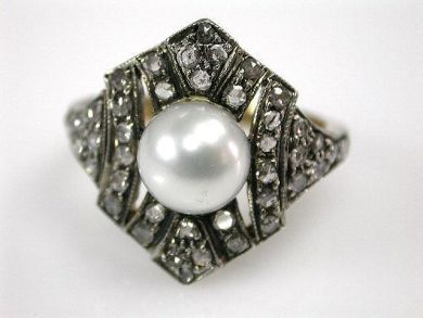 67061-March/Pearl Ring Cynthia Findlay Antiques CFA1202299