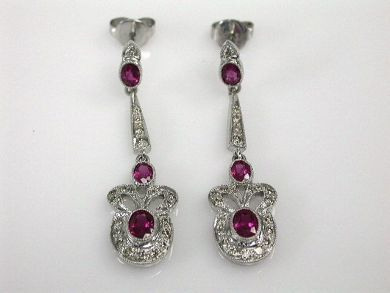 67061-March/Ruby Drop Earrings Cynthia Findlay Antiques CFA120343