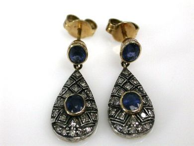 67061-March/Sapphire Drop Earrings Cynthia Findlay Antiques CFA120317