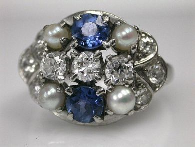 67062-March/Cluster Ring Cynthia Findlay Antiques CFA1202218