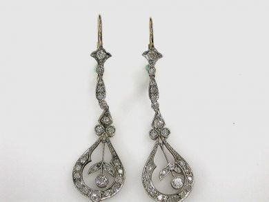 67062-March/Diamond Drop Earrings Cynthia Findlay Antiques CFA120381