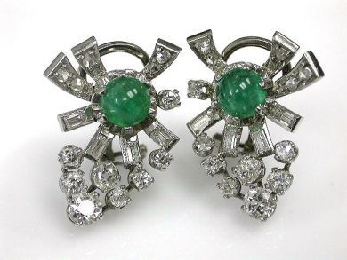 67062-March/Emerald and Diamond Earrings Cynthia Findlay Antiques CFA120390