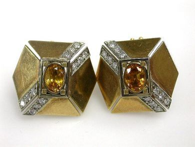 67062-March/Orange Sapphire Earrings Cynthia Findlay Antiques CFA1203124