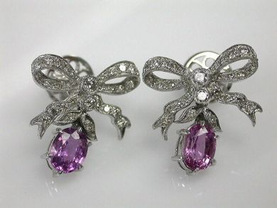 67062-March/Pink Sapphire Earrings Cynthia Findlay Antiques CFA120375