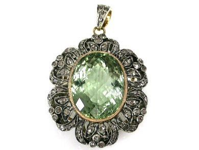 67062-March/Prasiolite Pendant Cynthia Findlay Antiques CFA120364