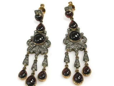 67398-October/Garnet Drop Earrings Cynthia Findlay Antiques CFA120639C