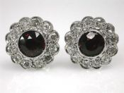 Garnet Floral Earrings