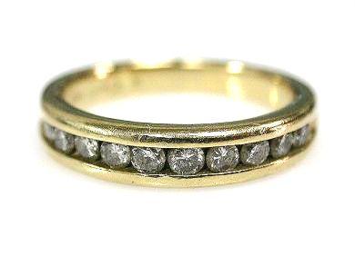 Vintage Diamond Half Eternity Ring