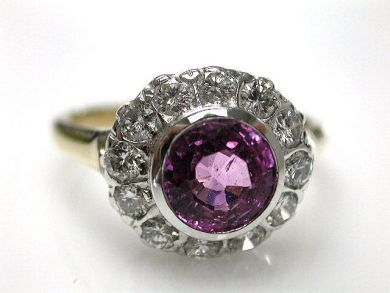 67398-October/Pink Sapphire Cluster Cynthia Findlay Antiques CFA1204170