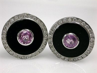 67398-October/Pink Sapphire Earrings Cynthia Findlay Antiques CFA1204210