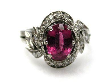 67398-October/Pink Tourmaline Ring Cynthia Findlay Antiques CFA1204171