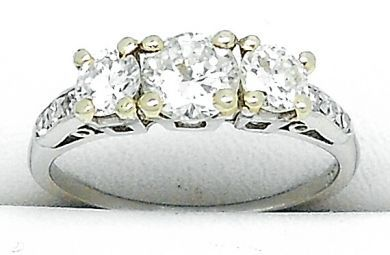 67398-October/Three Stone Diamond Ring Cynthia Findlay Antiques 041312 4