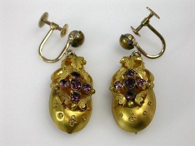 67398-October/Victorian Earrings Cynthia Findlay Antiques CFA120618