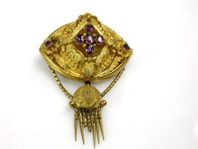 Victorian Paste Tassel Brooch