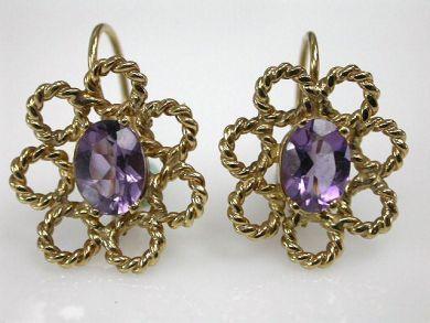 67425-April /Amethyst Earrings Cynthia Findlay Antiques CFA1205159