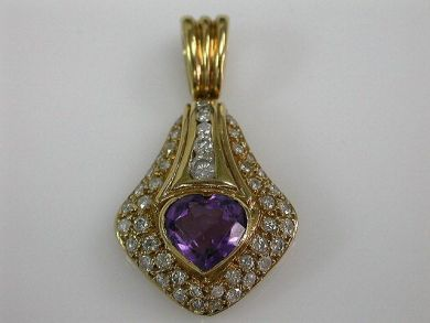 67425-April /Amethyst Pendant Cynthia Findlay Antiques CFA120581