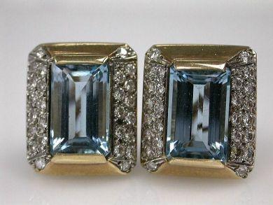 67425-April /Aquamarine Earrings Cynthia Findlay Antiques CFA1205114