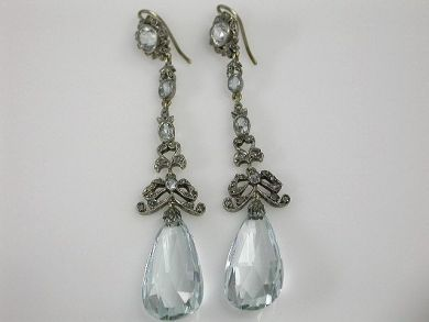 67425-April /Aquamarine Victorian Earrings Cynthia FIndlay Antiques CFA120468