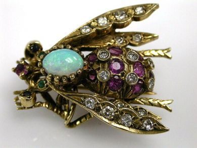 67425-April /Bee Brooch Cynthia Findlay Antiues CFA1205236b