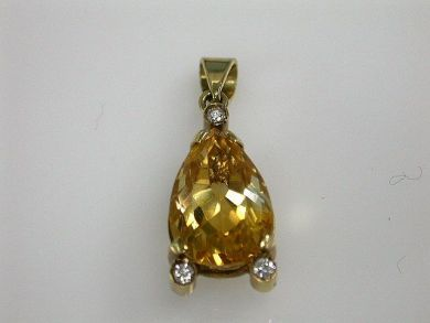 67425-April /Citrine Pendant Cynthia Findlay Antiques CFA1205170