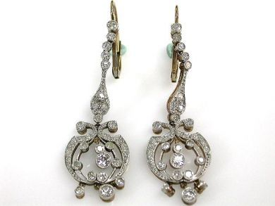 67425-April /Diamond Earrings Cynthia Findlay Antiques CFA1205139