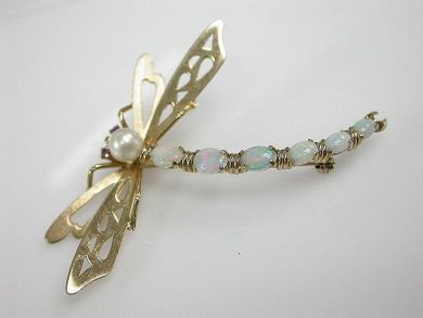 67425-April /Dragonfly Brooch Cynthia Findlay Antiques CFA1205234