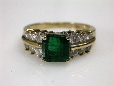 67425-April /Emerald Ring Cynthia Finday Antiques CFA120595