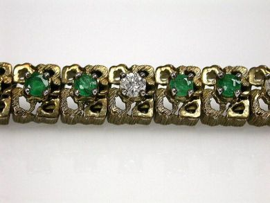 67425-April /Emerald and Diamond Bracelet Cynthia Findlay Antiques CFA1205113