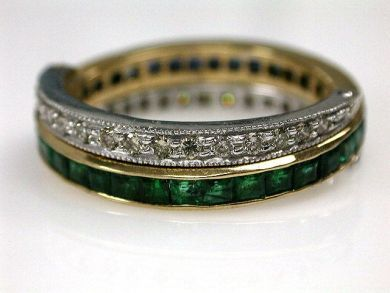 67425-April /Emerald and Sapphire Band Cynthia Findlay Antiques CFA120596