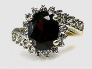 67425-April /Garnet Ring Cynthia Findlay Antiques CFA1205100