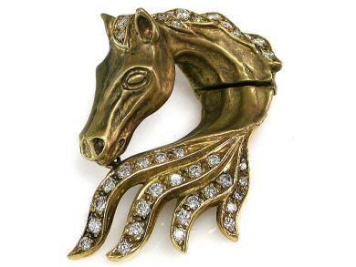 67425-April /Horse Head Pendant Cynthia Findlay Antiques CFA1205245